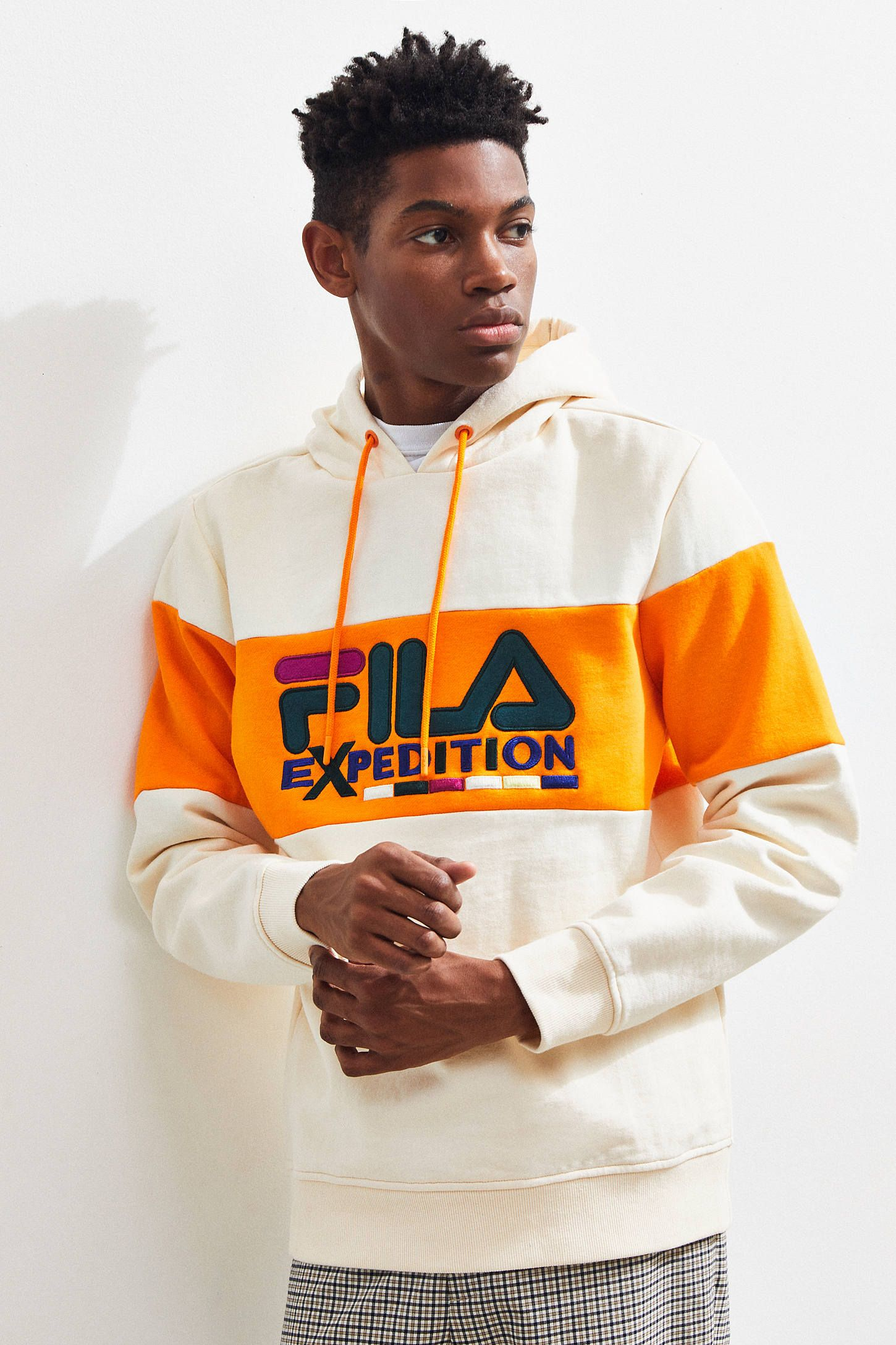 7b79f51f FILA Expedition Colorblock Hoodie Sweatshirt | MENS KNIT in 2019 ...