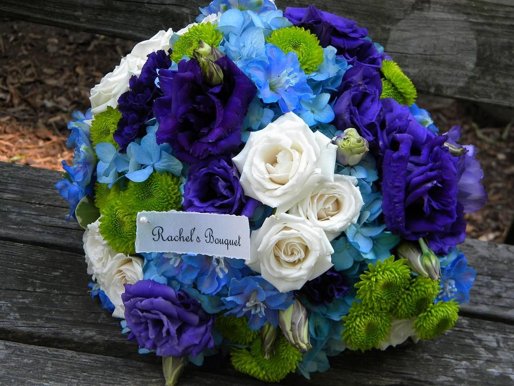 Pea Colors But Not Themed Lots Of Green And Blue Purple Weddingsblue Wedding Flowersbride