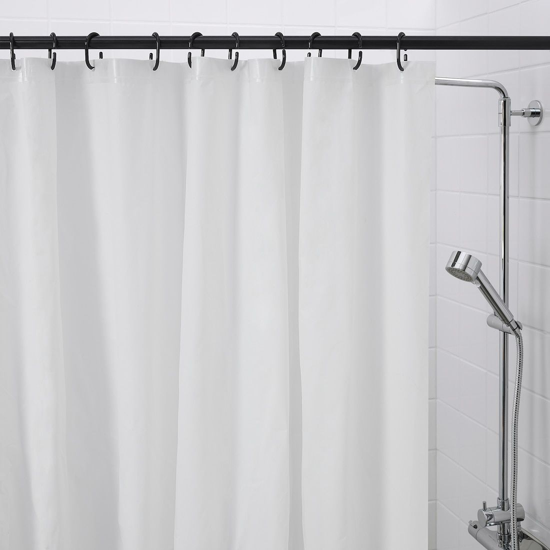 Ringsjon Shower Curtain Rings Black In 2020 Black Shower Curtains Shower Curtain Rings Shower Curtain