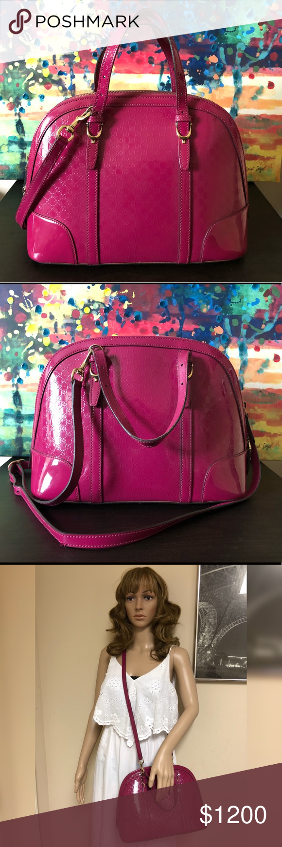 fb9d89e75cf Gucci Nice Microguccissima Patent Leather Pink Bag Add a pop of color to  your look with