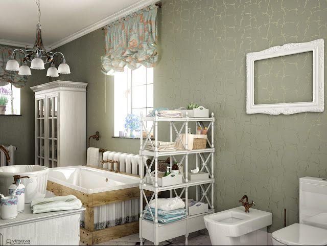 Badezimmer-Design-Ideen Französisch Badezimmer Dekor