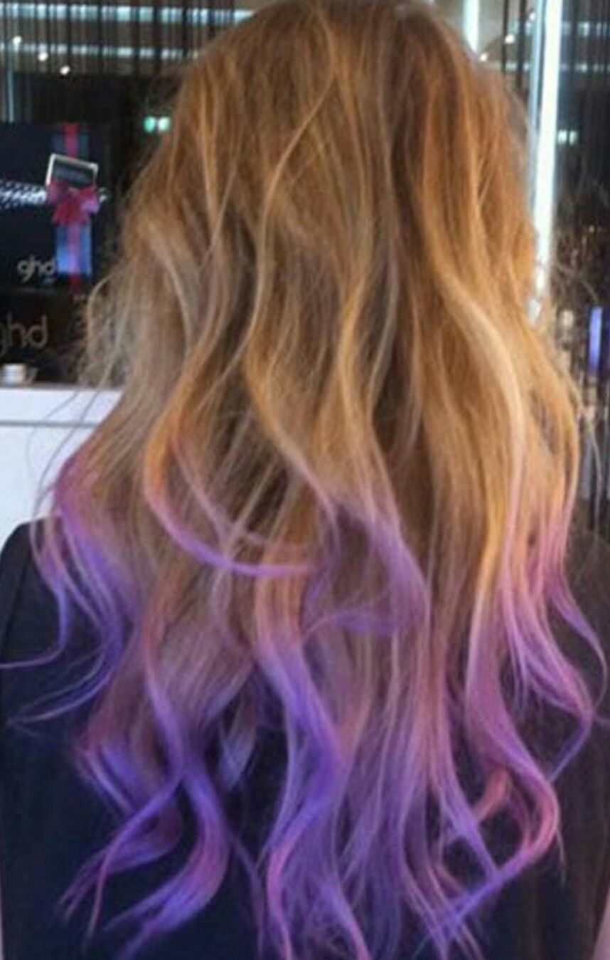 Pin By Sabine B On Hair Purple Hair Tips Dip Dye Hair Hair Styles