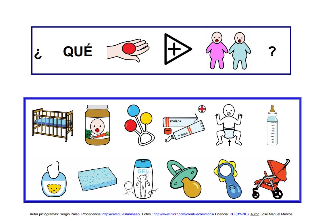 Libro del bebé: Lámina 10. http://informaticaparaeducacionespecial.blogspot.com.es/2009/05/libros-para-hablar-libro-del-bebe.html