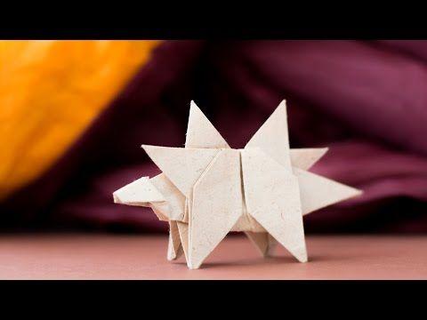 Photo of Origami Dinosaur. How to make dinosaur from paper. Stegosaurus