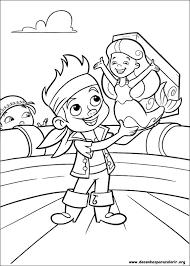 Resultado de imagem para desenhos para colorir do jake e os piratas da terra do…