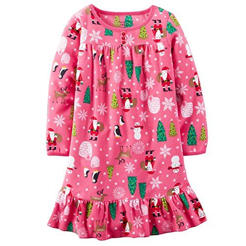 Nightgown Pajamas Carters Little Girls Sleepwear Ruffle Micro fleece Warm Winter