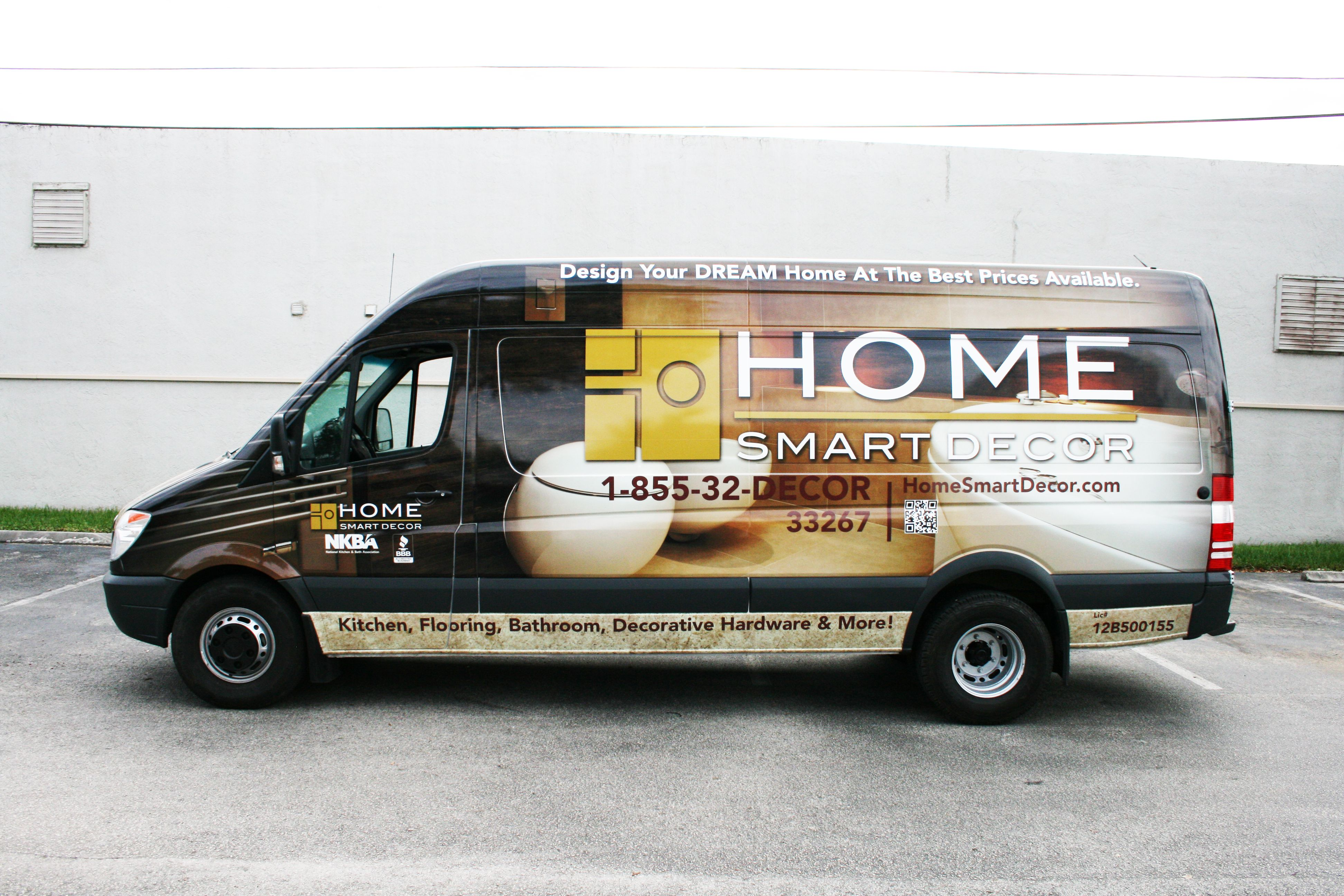 Home interior renovation mercedes benz sprinter van vehicle wrap fort lauderdale florida http