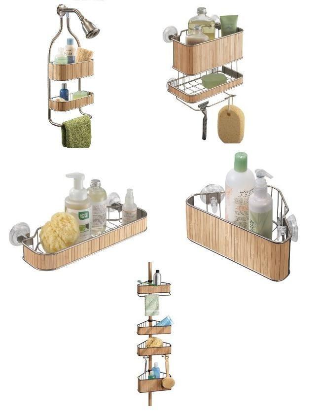 Organizadores de duchas en bambu pot pourri pinterest - Estanterias para duchas ...