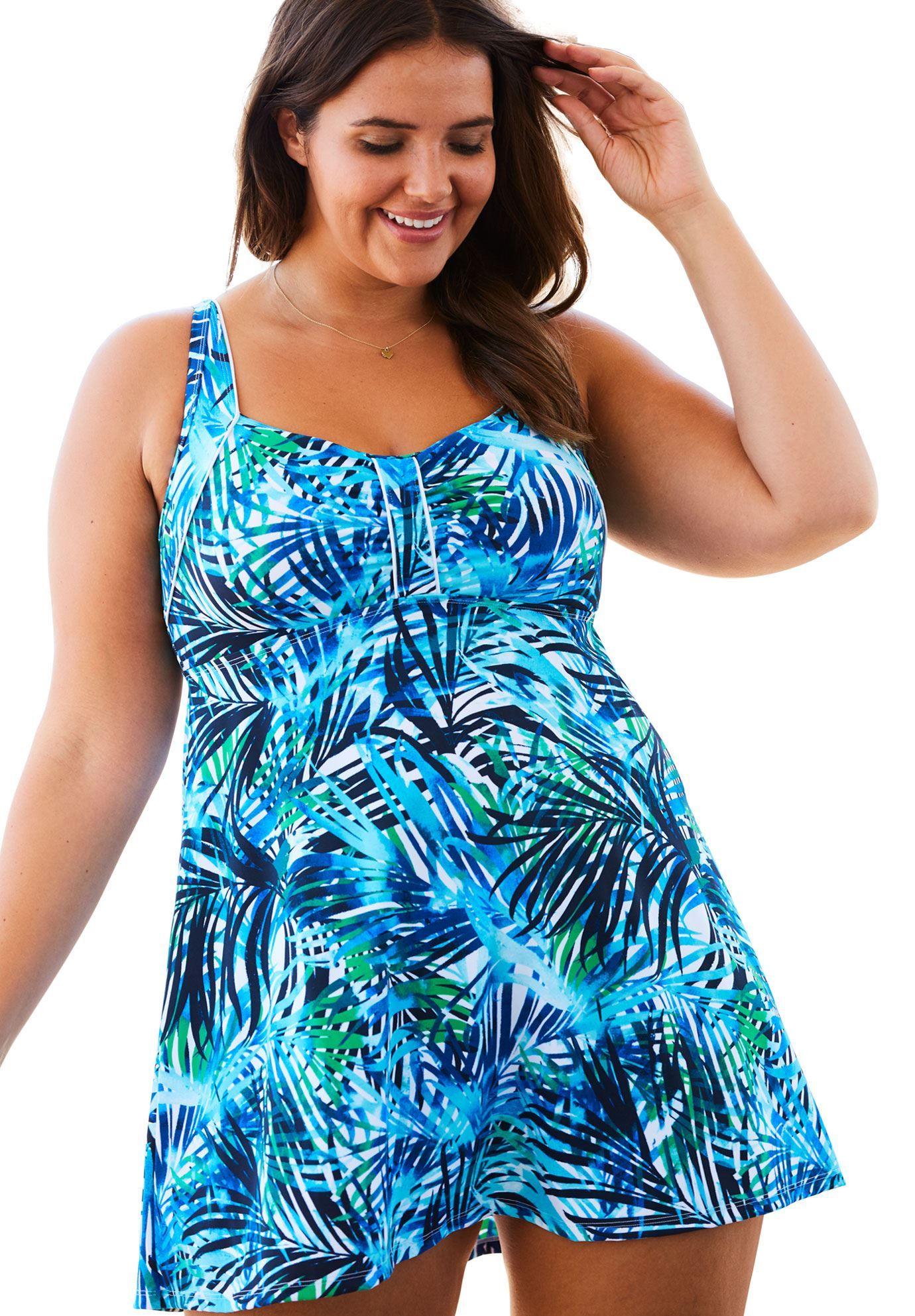 881f11d0824 Swim 365 Retro Swimdress - Women's Plus Size Clothing | Products ...