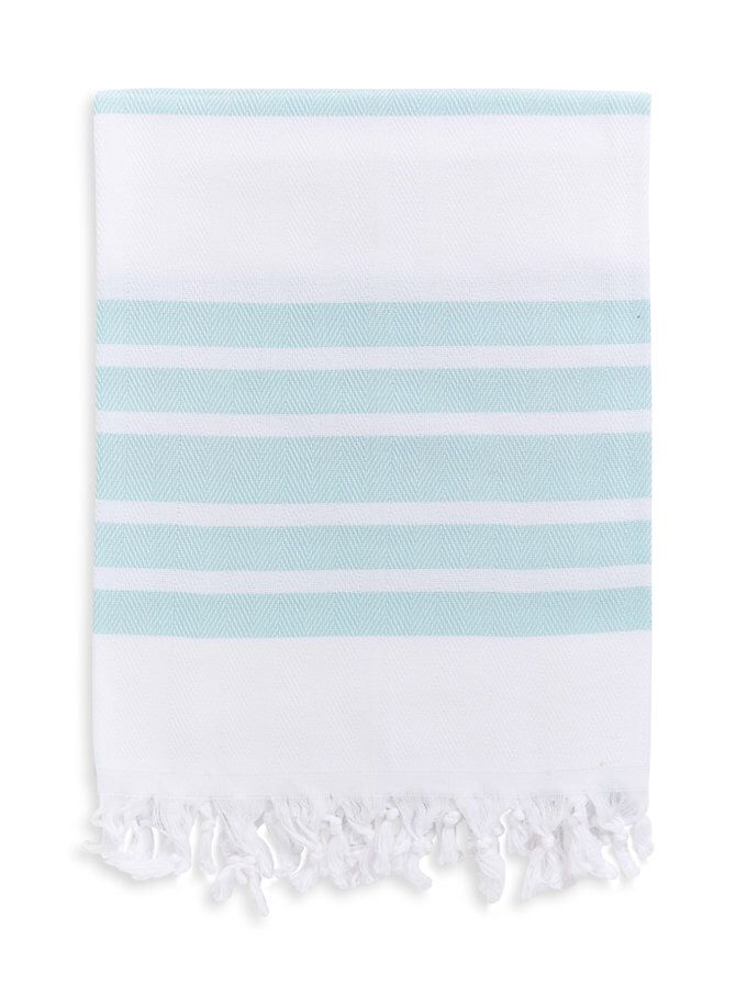 Herringbone Weave Pestemal Beach Towel from Inspired by La Marca: Sparkling Pool Party on Gilt