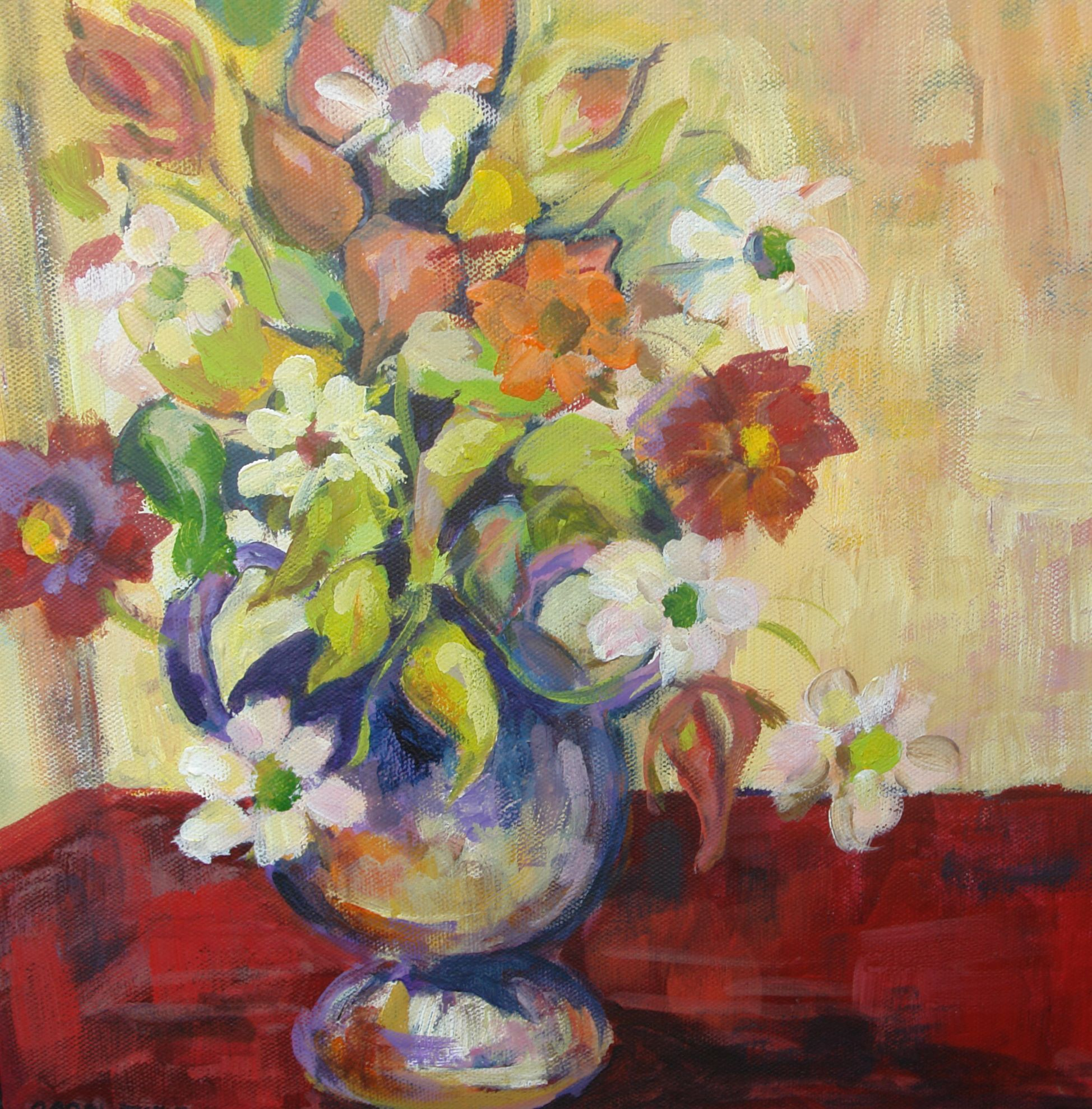 Still Life Flowers by Pamela Crowther