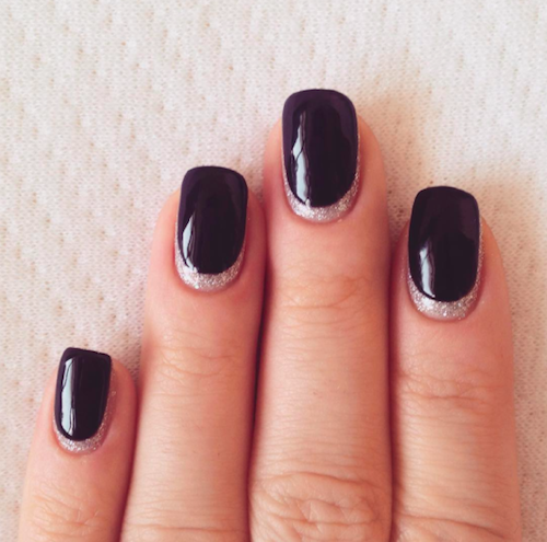 14 easy reverse french manicures that will up your nail game ongles et noir - French manucure noir ...