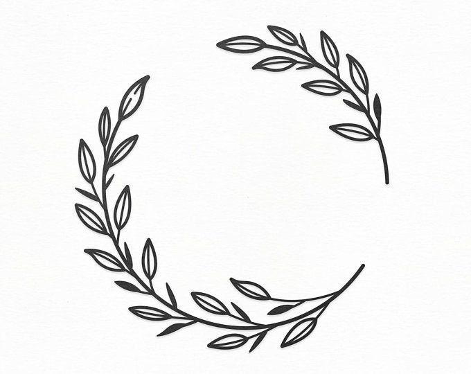 Photo of Flower Wreath SVG Craft Pattern, Floral Frame SVG, Flower SVG, Wreath Clipart, Silhouette Cut Files, Cricut Cut Files / FT00136