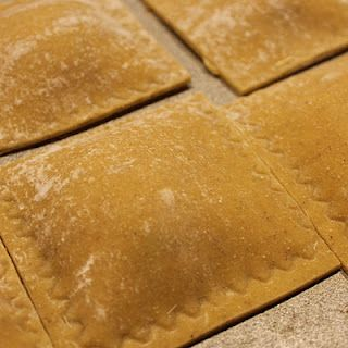make ravioli using fresh lasagne sheets - roll thinner, use cookie cutter for cute shapes and hold together with egg wash