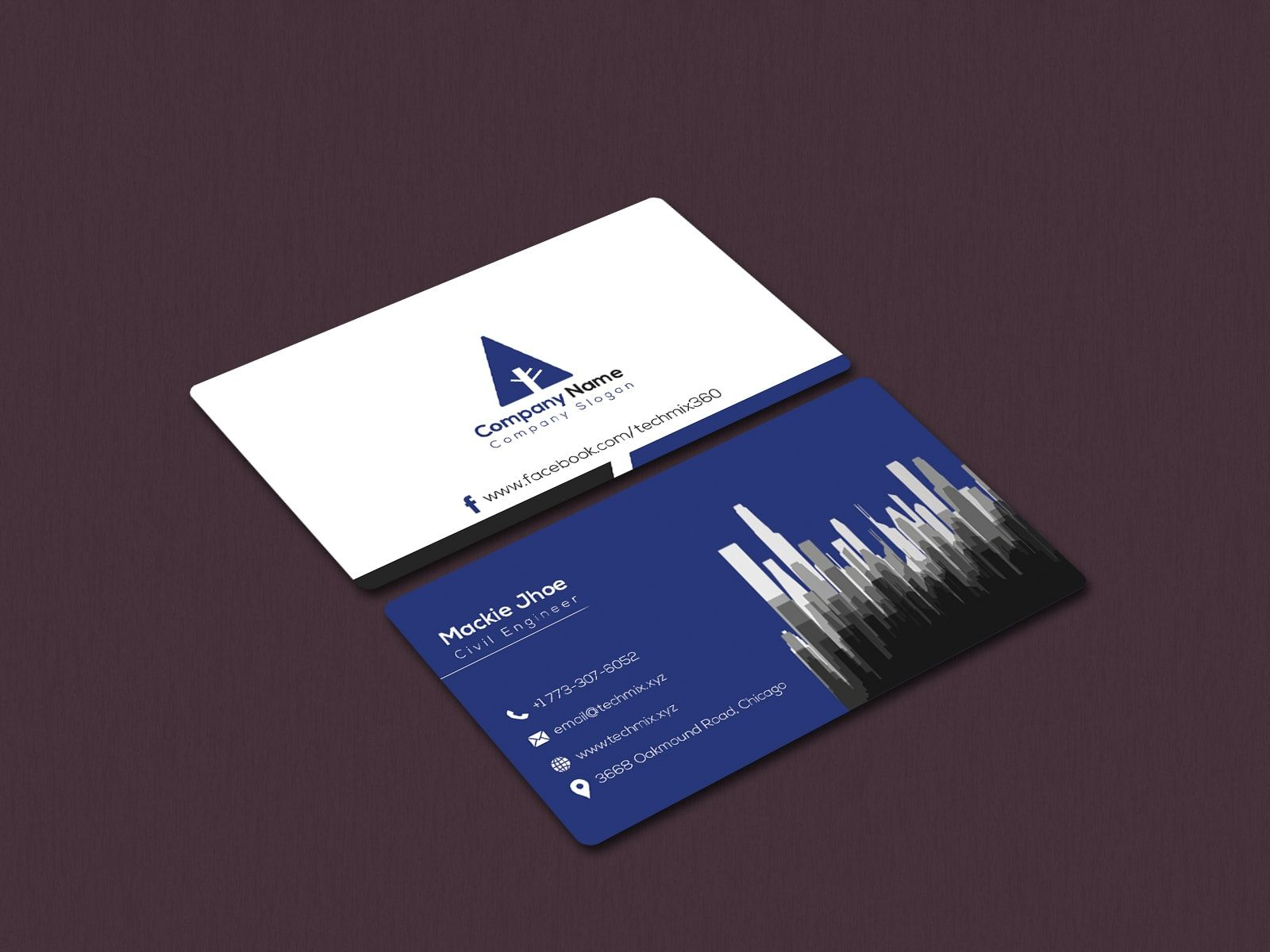 Civil Engineer Visiting Card Business Cards Creative Templates Visiting Cards Business Cards Creative