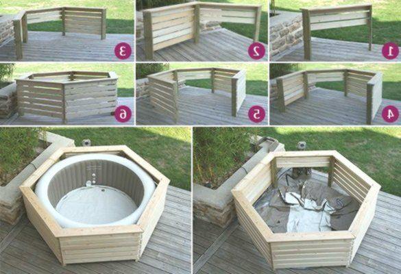 Inflatable Wooden Boarding Intex Spa Aquazendo Hot Tub Backyard