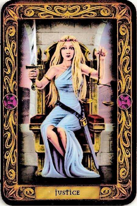 Justice - Major Arcana Tarot Card