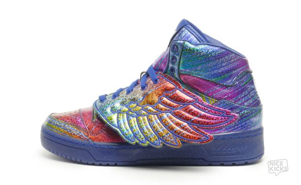 "6c1f5c34925a Jeremy Scott x adidas Wings ""Rainbow Hologram"" Available Now"