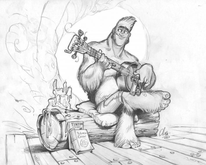 Bigfoot - Pencil research - The Son of Bigfoot - Charcter ...