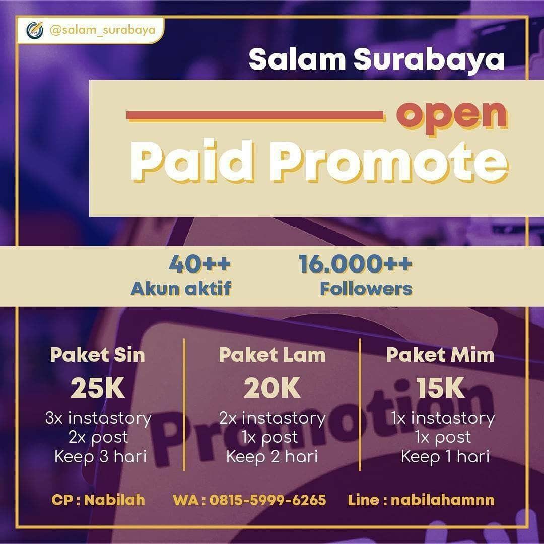 Open Paid Promote Salam Surabaya 2020 Sobat Salam Kalian Punya Event Online Shop Bisnis Makanan Pakaian Kado In 2020 Lockscreen Lockscreen Screenshot