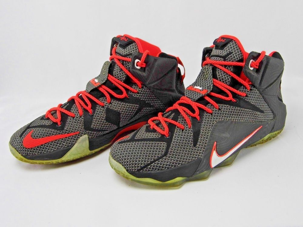 new concept 6b17e 05a6e Nike LeBron James 12 Court Vision Black/Crimson Men Shoes ...
