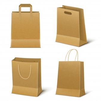 Brown Paper Bag Vector Google Search Paper Shopping Bag Bag Set Brown Paper Bag