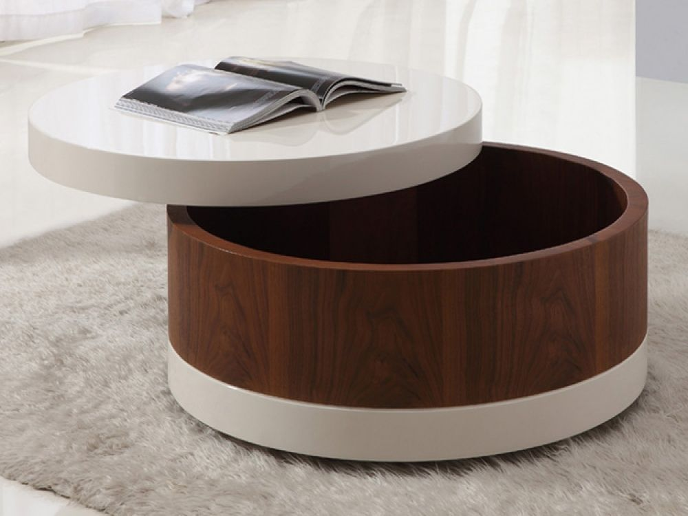 Image of The Round Coffee Tables with Storage the Simple and pact Furniture that Looks