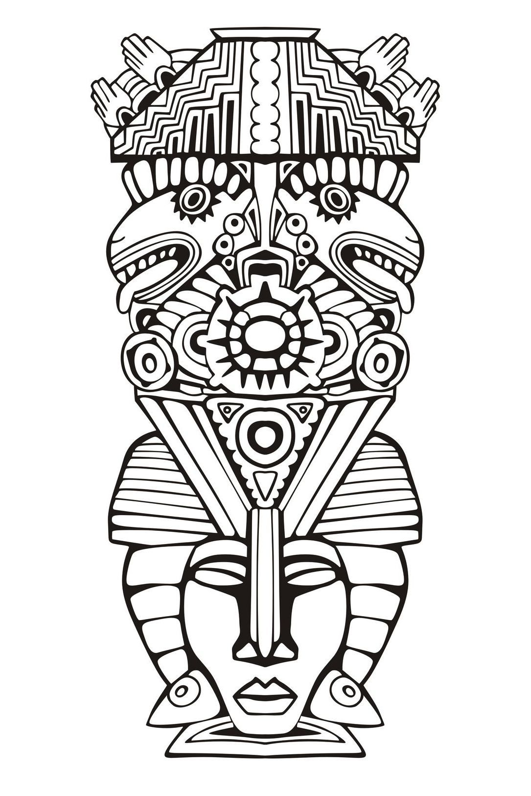 aztec coloring pages mexico - photo#10