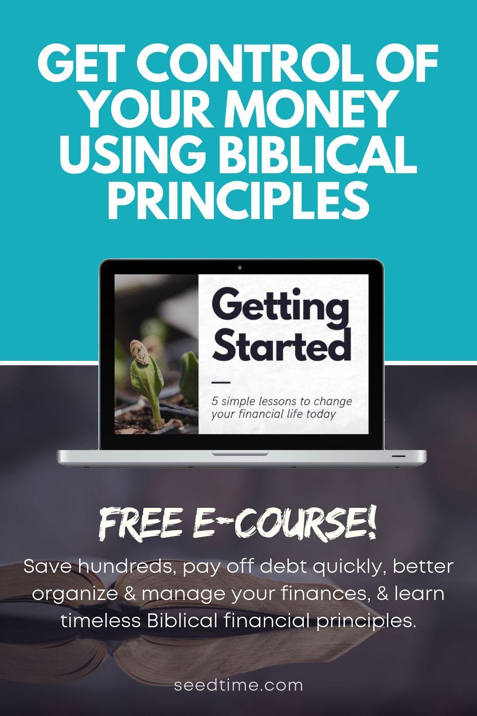 Control your money using Biblical principles #financenestegg
