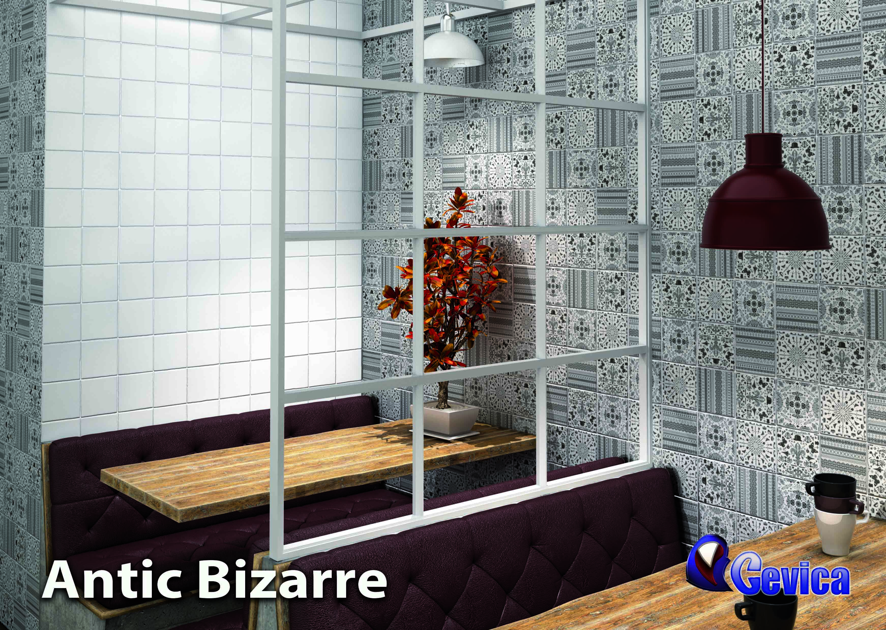 """Bizarre. These designs are based in the bizarre style. The white base is a special white called """"Blanco roto"""". These decors are for the Antic 13x13 Range, Provenza 13x13 range or Manises 13x13 range"""