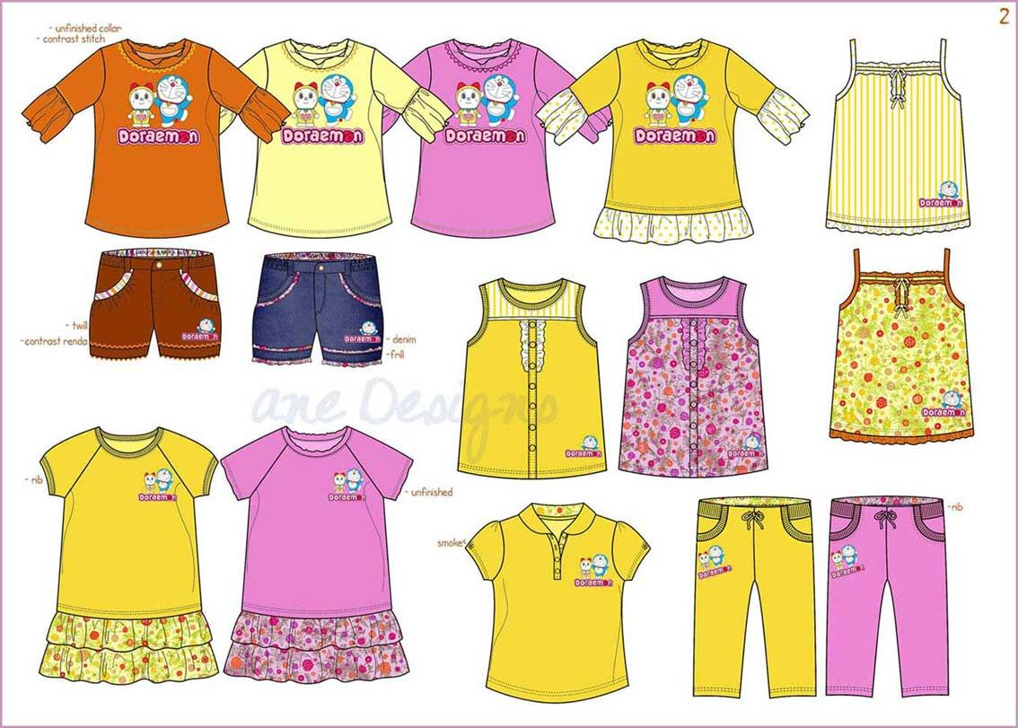 girls fashion design / kids clothing design / desain baju anak ...