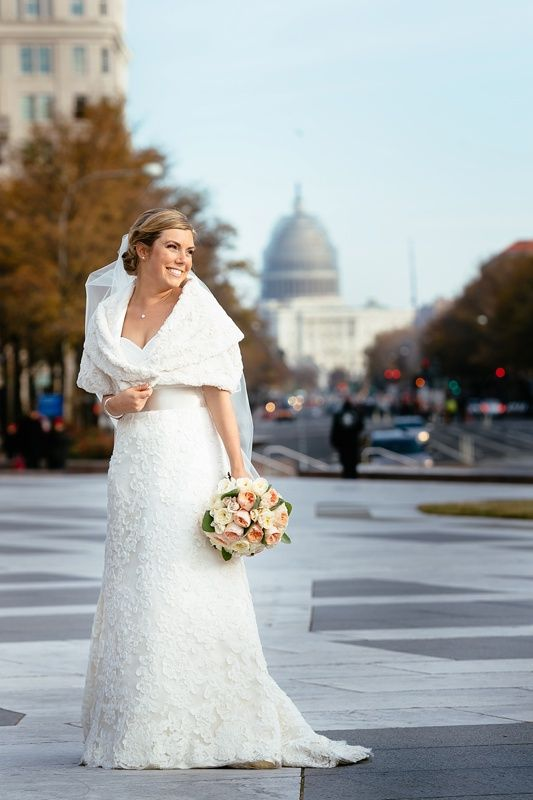 Winter Wedding Dress Lace Gown Don Mears Photography
