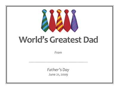 FatherS Day Gift Ideas Free Printable Gift Certificates