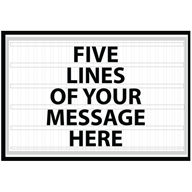 Business Readerboard Sign 72w X 48h Marquee Sign Business Signs Marquee Sign Letters