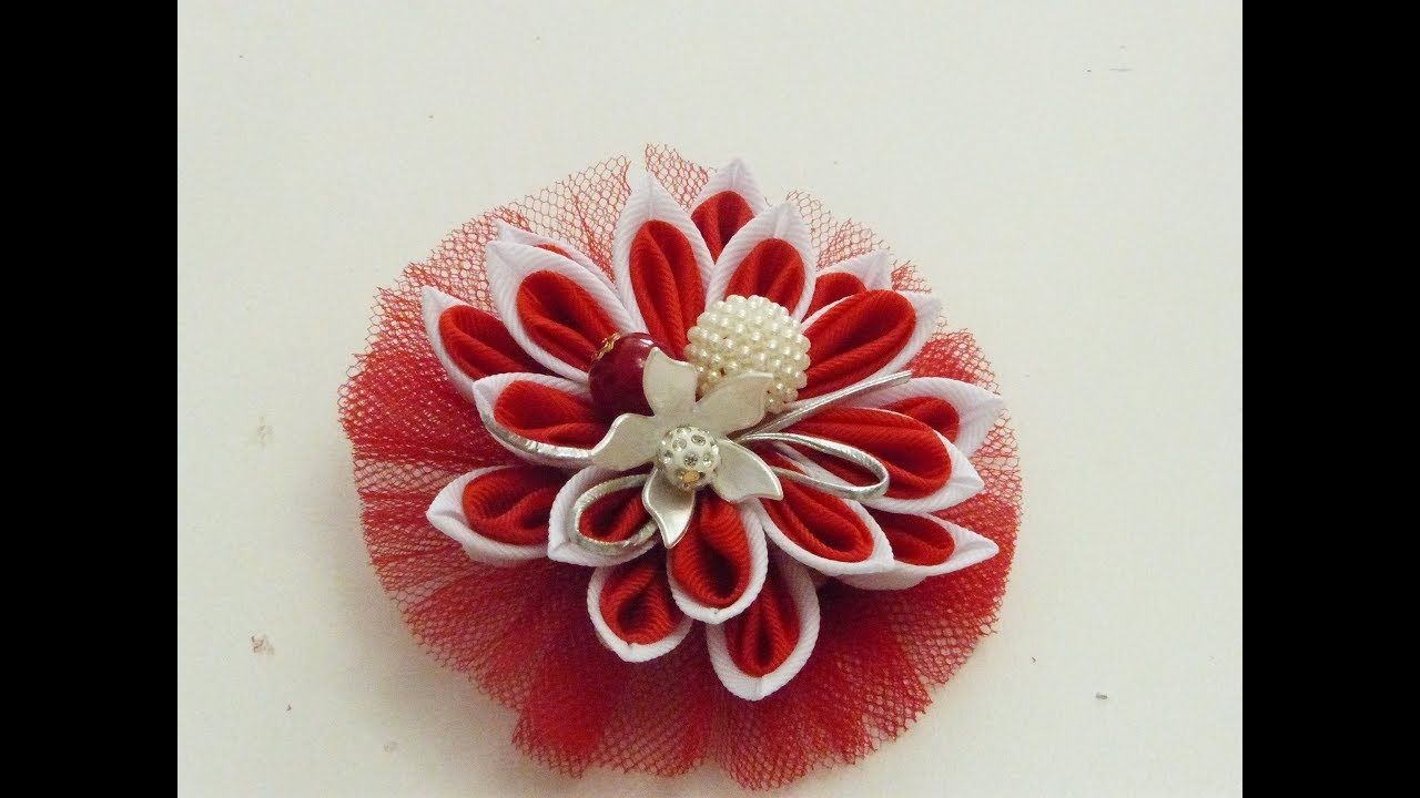 Como Hacer Flor Con Cintas Flores Dobles Más Fáciles En Liston Para