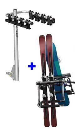 thule tram 9033 hitch ski rack and