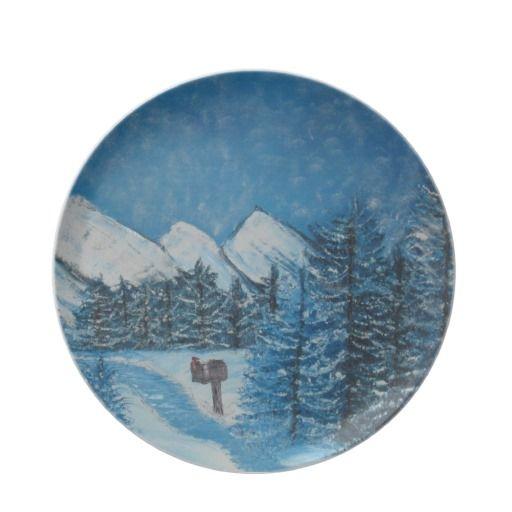 Blue Winter Fine Art-Dinner Plate