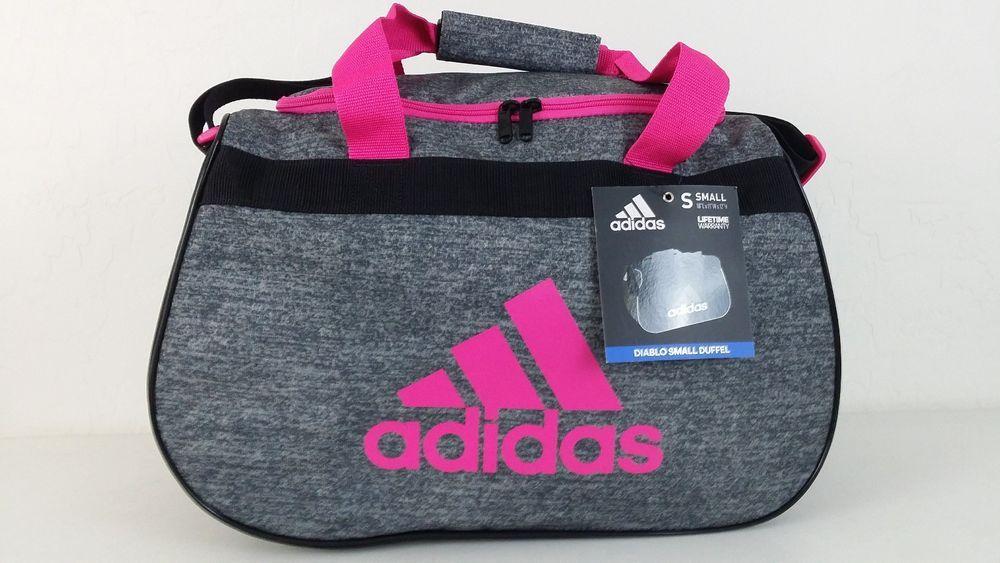 fd0eee75c6 NWT ADIDAS Diablo Small Duffel Bag Onix Jersey Black Shock Pink Fits Gym  Locker  adidas