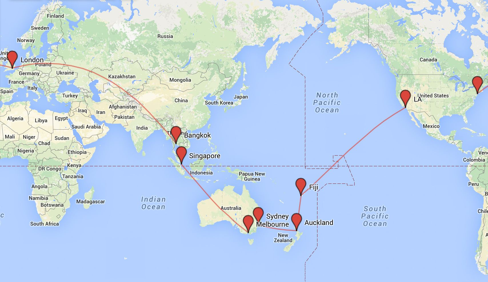 Planning Your Gap Year My Top Around The World Flight Routes - Us Flight Path Map