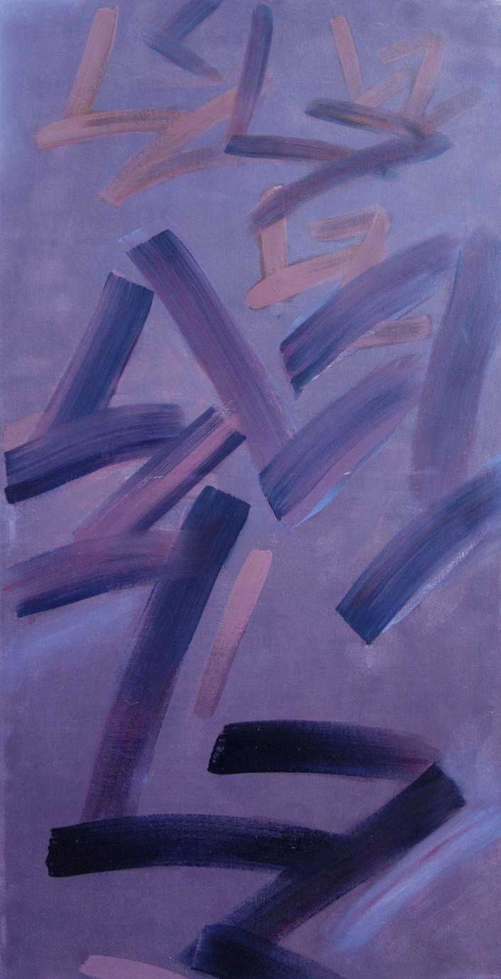 "Lidia Zdzieszyńska ""Mój kod"", olej na płótnie / ""My code"", oil on canvas/, 60x120cm"
