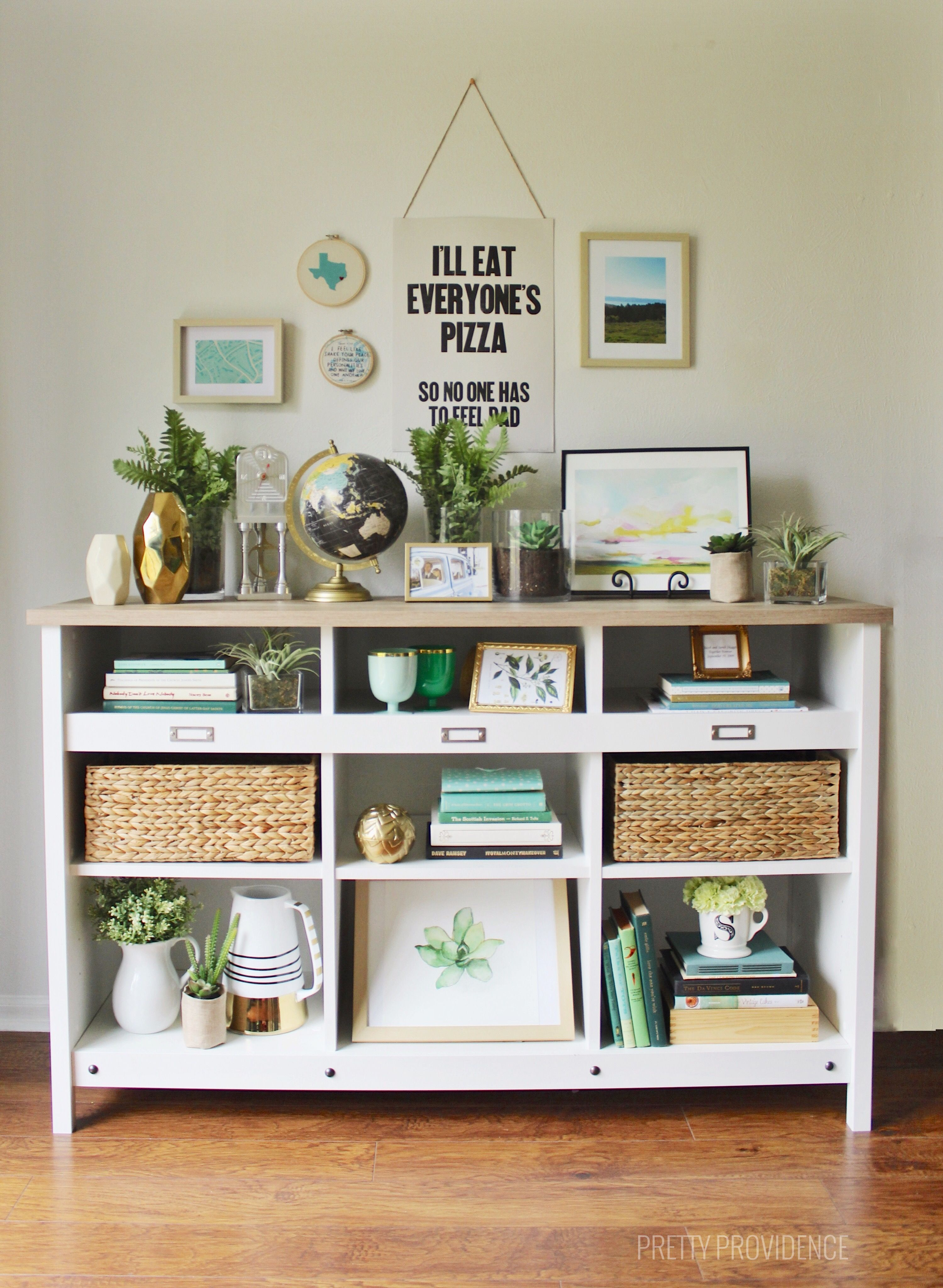 How to style shelves on a budget the nest home decor - How to decorate my room without spending money ...