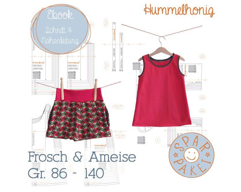 Sparpaket Hose Frosch + Top Ameise, 2 Schnittmuster-Ebooks für nur 7 ...