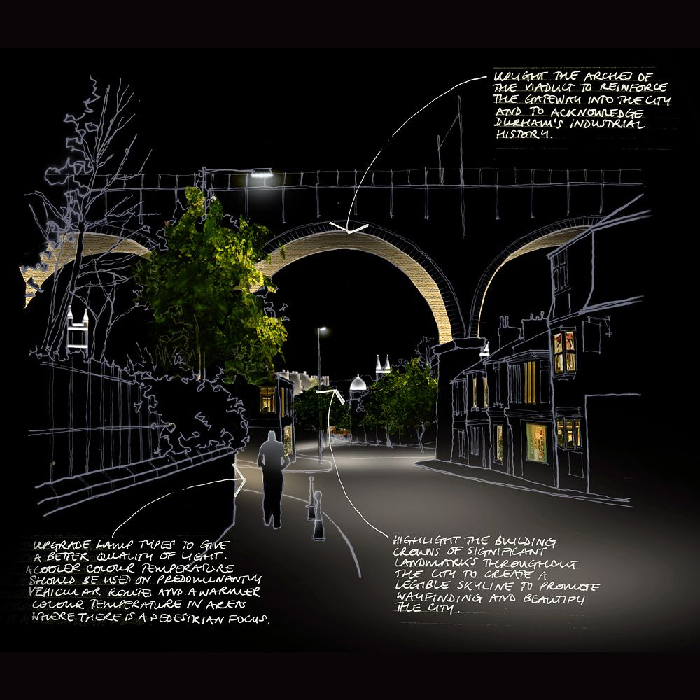 Durham light and darkness strategy speirs major for Architectural landscape lighting