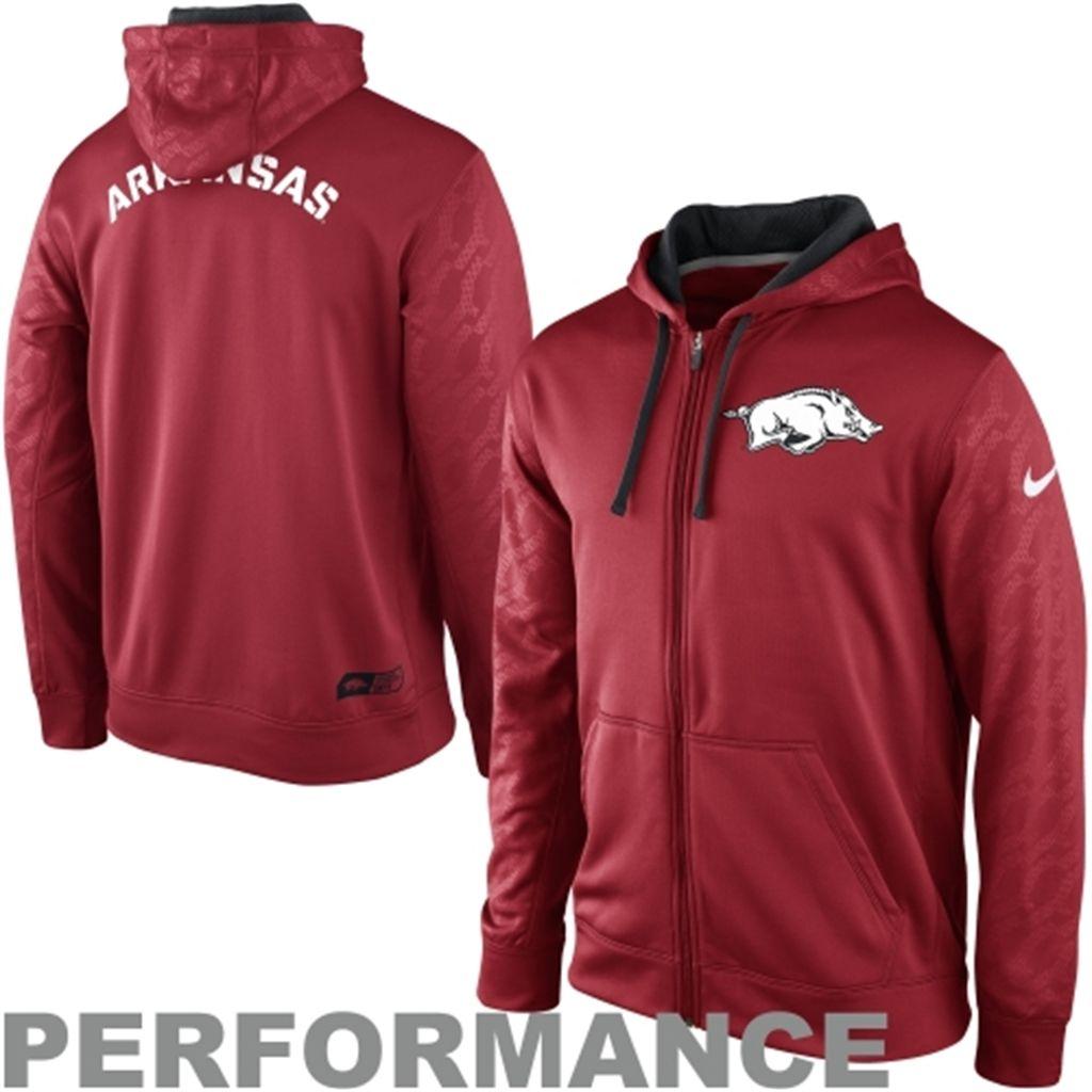 Nike Arkansas Razorbacks Ko Performance Full Zip Hoodie Sweatshirt Cardinal Sweatshirts Zip Hoodie Sweatshirt Full Zip Hoodie [ 1024 x 1024 Pixel ]