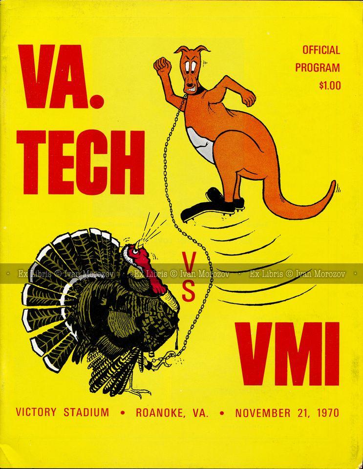 1970.11.21. Virginia Tech (Hokies) vs Virginia Military