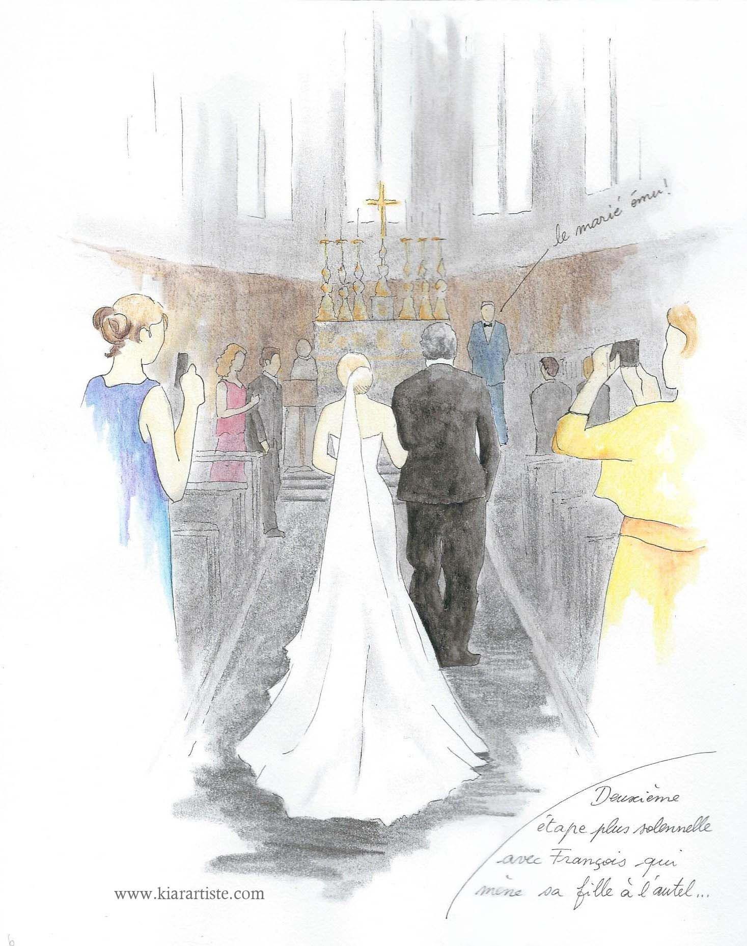 Carnet de mariage en dessin c r monie l 39 glise carnet de mariage en dessin en 2019 cadeau - Dessin eglise ...