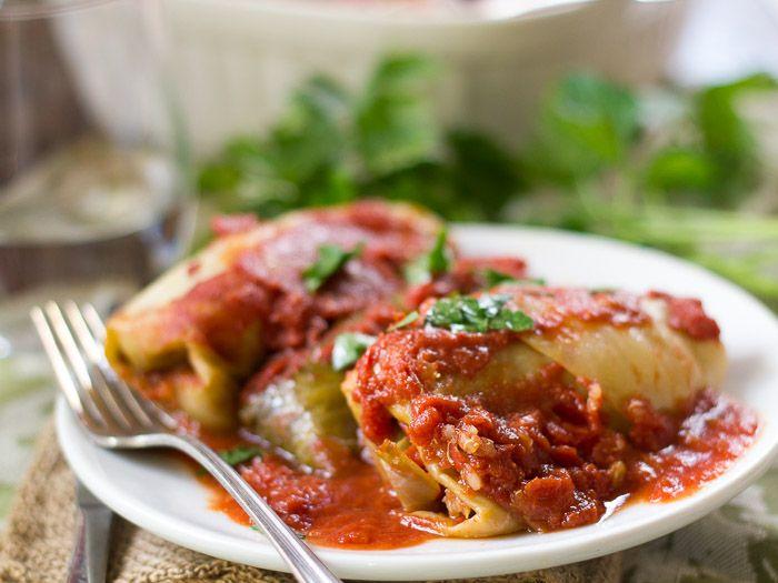 Quinoa & Lentil Stuffed Vegan Cabbage Rolls