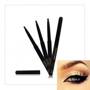 Black Waterproof 2 in 1 Professional Twist Up Eye Pencil - Contains Vitamin A-E & Aloe