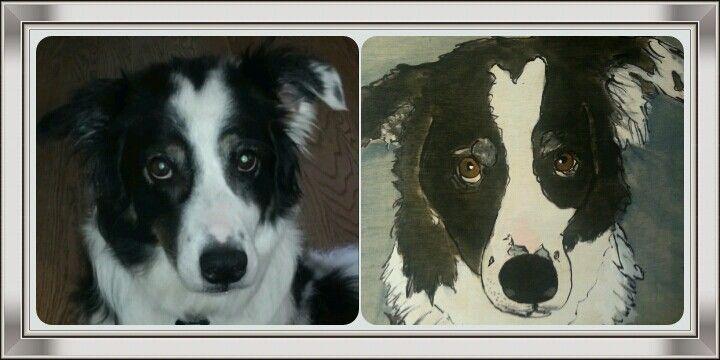 Custom order for a dog portrait