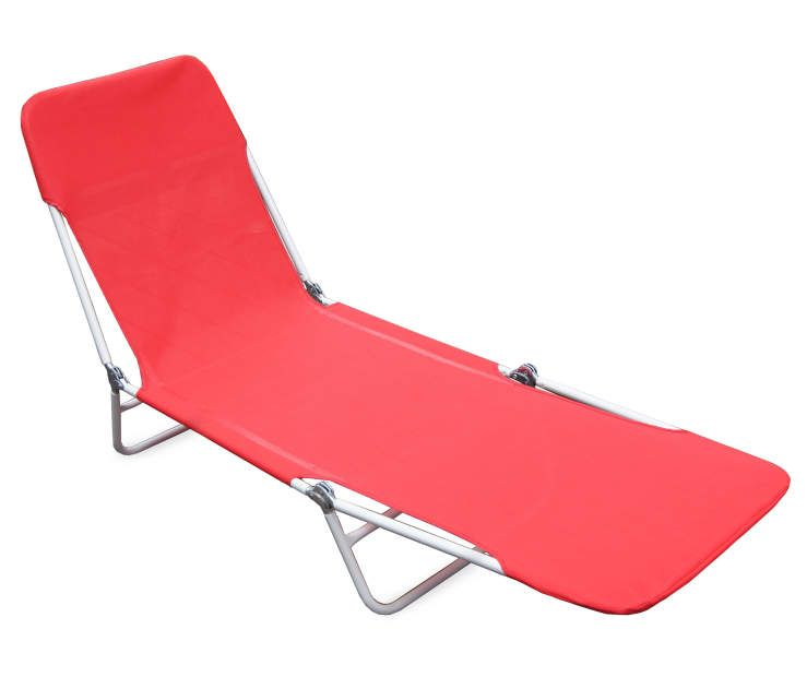 Wilson Fisher Red Sling Folding Lounge Chair Folding Lounge Chair Lounger Patio Loungers